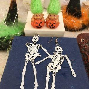 Happy Halloween Earrings 2 Pair: Pumpkins by Russ+